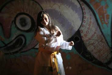 Rafaela Cunha está gostando do projeto. Foto: Rafael Martins/ Esp. DP/ D.A Press