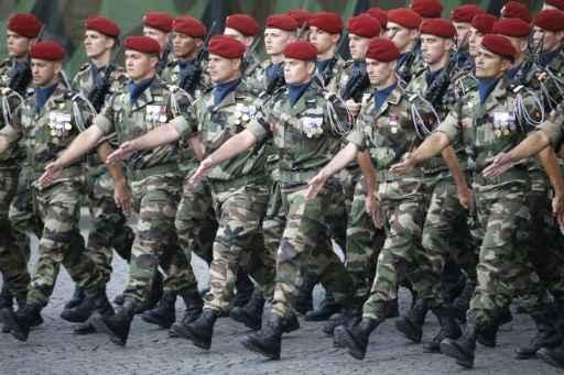 Tropas da operação Barkhane durante desfile na França- Foto:AFP THOMAS SAMSON  (AFP THOMAS SAMSON )
