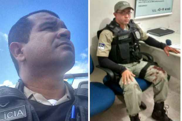 Policial morto (E) tinha decidido que, naquele dia, não iria mais trabalhar com parceiro (Divulgação/whatsapp)