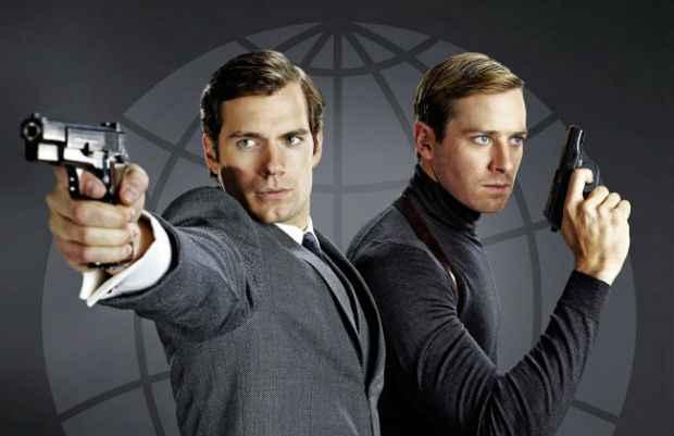 Henry Cavill e Armie Hammer em cena de O Agente da U.N.C.L.E. Foto: Warner Bros./Divulgação