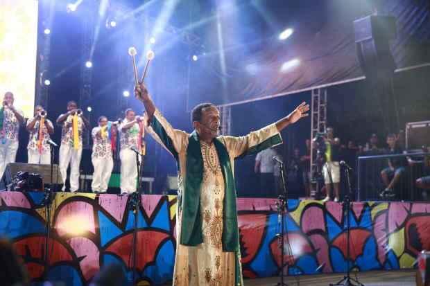 Naná comanda a tradicional abertura do carnaval do Recife. Foto: Blenda Souto Maior/DP/D.A. Press