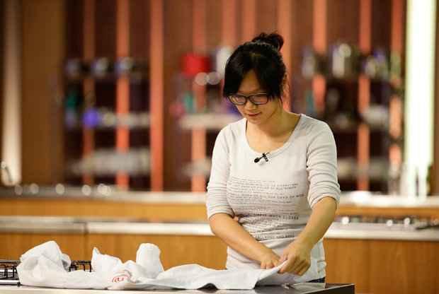 Chinesa cativou o público e os jurados com o jeito calmo. Fotos: Band/Divulgação