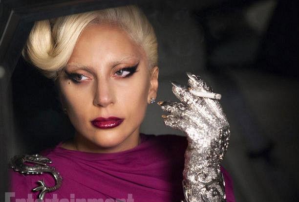 Lady Gaga interpreta dona de hotel na nova temporada. Foto: Entertainment Weekly/Divulgação
