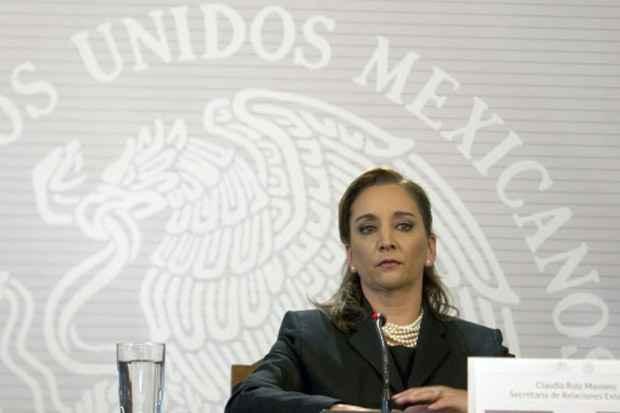 A chanceler mexicana, Claudia Massieu. Foto: Yuri Cortez/AFP