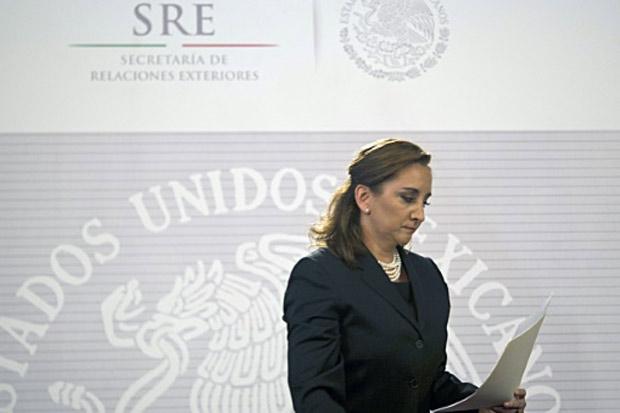 A ministra mexicana das Relações Exteriores, Claudia Ruiz Massieu, na Cidade do México, no dia 14 de setembro de 2015. Foto: Yuri Cortez/AFP/Arquivos