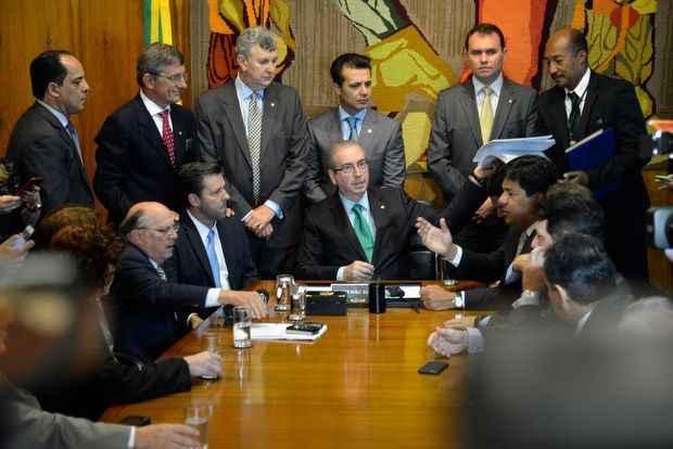 Pedido de impeachment de Dilma foi entregue ao presidente da Câmara, o deputado Eduardo Cunha (PMDB-RJ). Foto: Wilson Dias/ABr