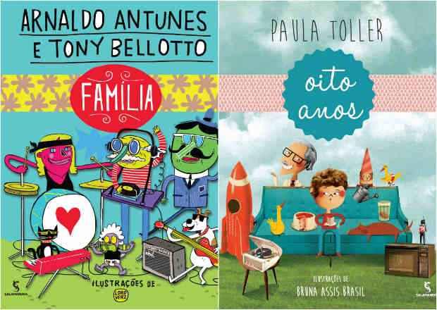 Livros traduzem as letras das canções com ilustrações lúdicas. Foto: Editora Salamandra/Reprodução