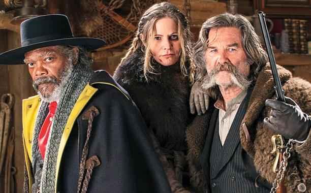 Samuel L. Jackson, Jennifer Jason Leigh e Kurt Russell estrelam novo faroeste de Tarantino. Foto: Entertainment Weekly/Reprodução