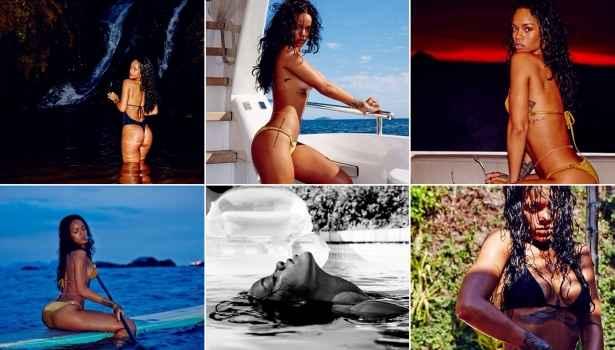 Rihanna lembrou sua última vinda ao Brasil com fotos na internet