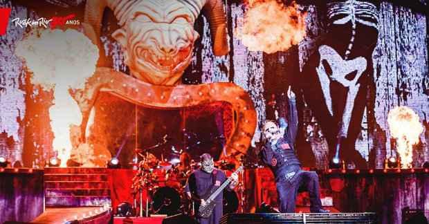 s mascarados fizeram a Cidade do Rock explodir com hits dos mais de 20 anos de carreira. Foto: I Hate Flash