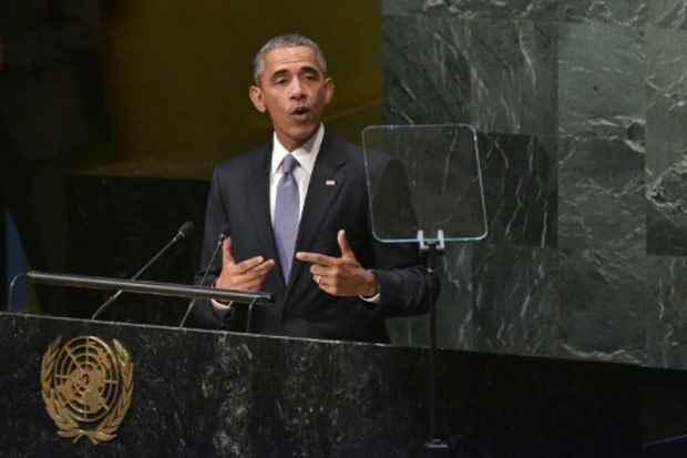 Obama discursa na Assembleia Geral da ONU, em Nova York. Foto: Mandel Ngan/AFP
