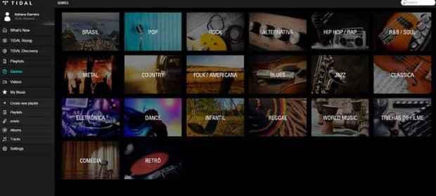 Artistas brasileiros como Ana Carolina, Maria Rita, O Rappa, Charlie Brown Jr e Anitta já estão no Tidal. Foto: Tidal/Reprodução