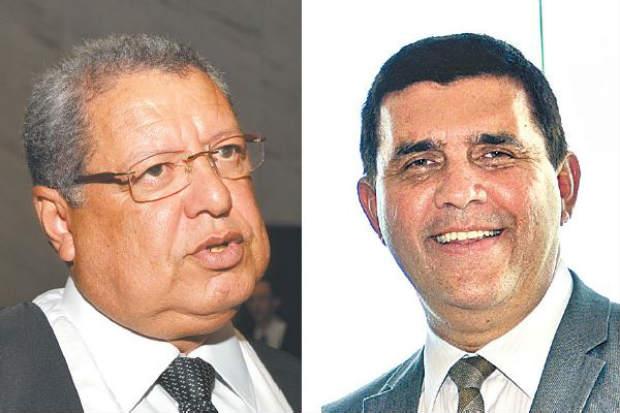 Leônidas (esq.) é contra o registro de chapa e Calaça (dir.) está à frente da oposição.