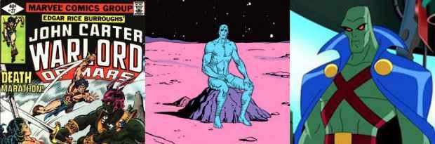 John Carter, Watchmen e Caçador de Marta, da DC Comics. Fotos: Divulgação