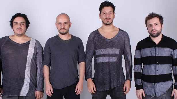Luis Lobianco, Gustavo Miranda, João Vicente e Gregório Duvivier do Porta dos Fundos. Foto: Comedy Central/Divulgação