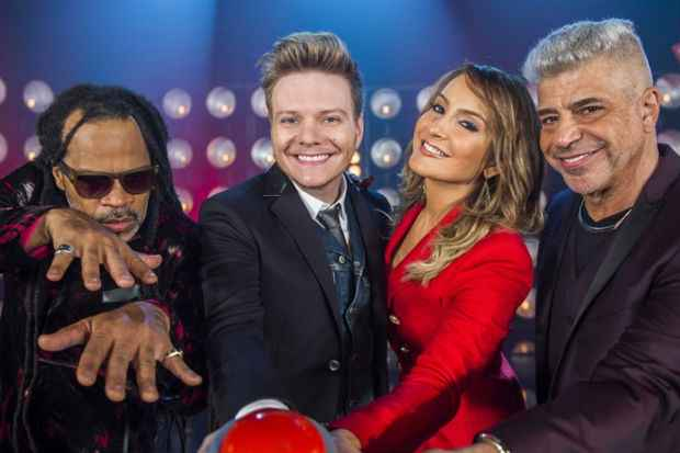 Carlinhos Brown, Michel Teló, Claudia Leitte e Lulu Santos, novo time de jurados do The Voice. Foto: GShow/Divulgação