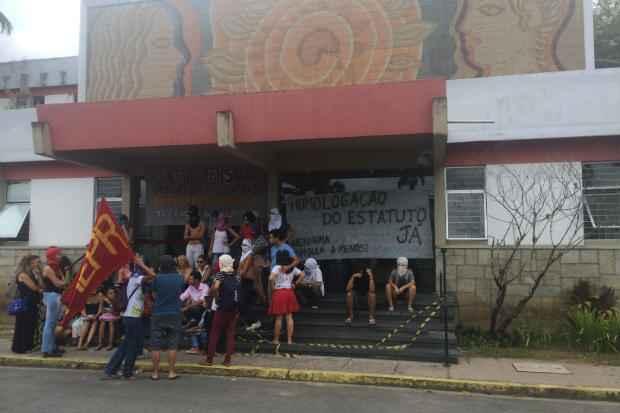 Prédio da Reitoria da UFPE ocupado desde a sexta-feira passada. Foto: Wagner Oliveira/DP/D.A Press