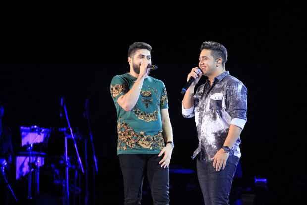 Henrique e Juliano gravam terceiro DVD da carreira no Recife. Foto: Luiz Fabiano/Divulgação
