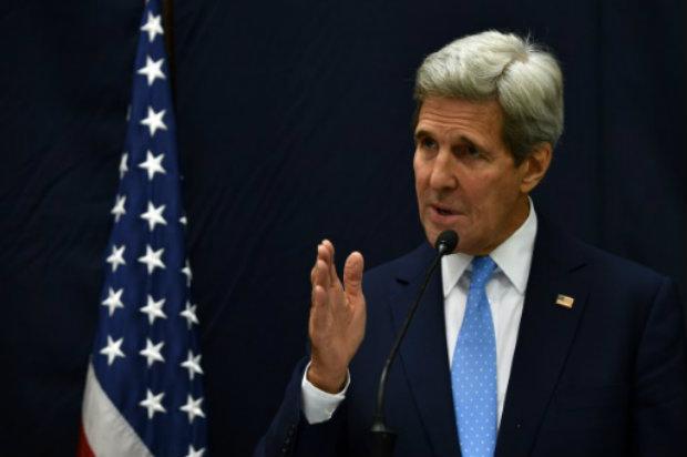 O secretário de Estado americano, John Kerry, em Porto Príncipe, no dia 6 de outubro de 2015. Foto: AFP/Arquivos Hector Retamal.