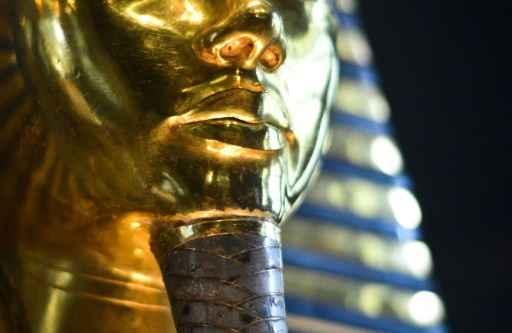 A máscara funerária de Tutancâmon, no Cairo. Foto: Mohamed el-Shahed/AFP