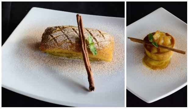 Página das sobremesas ganhou cartola pernambucana tradicional e uma tortinha de maçã