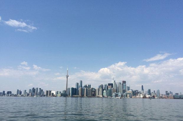 Skyline de Toronto vista do Lago Ontário. Foto: Edilson Segundo/DP/D.A Press