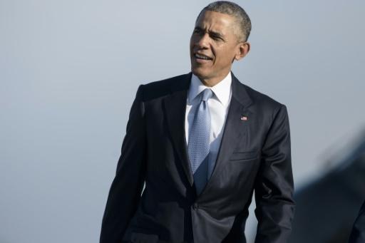 O presidente americano, Barack Obama, na base aérea de Andrews, Maryland, no dia 9 de outubro de 2015 Foto: Brendan Smialowski/AFP