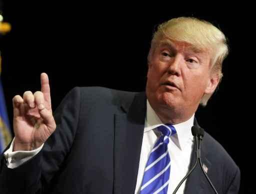O candidato às primárias republicanas Donald Trump, em Las Vegas, no dia 8 de outubro de 2015 Foto: GETTY IMAGES NORTH AMERICA/AFP/Arquivos Isaac Brekken