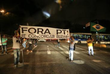 Estratégia semelhante foi utilizada pelo grupo que defende a intervenção militar. Foto: Rafael Martins/Esp.DP/D.A Press