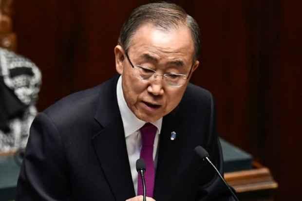 O secretário-geral das Nações Unidas, Ban Ki-moon, em Roma, no dia 15 de outubro de 2015. Foto: Andreas Solaro/AFP/Arquivos