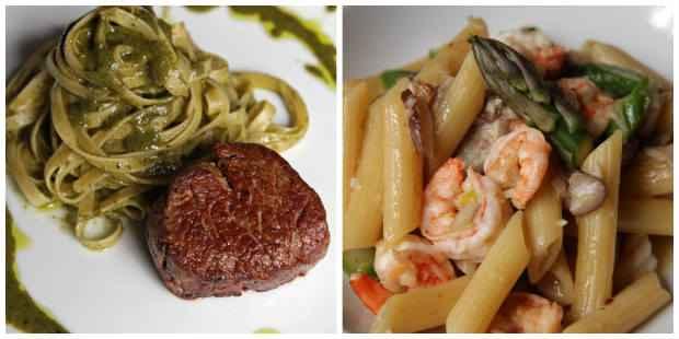 Pratos passeiam tanto pelas carnes quanto pelos frutos do mar, especialidade do chef. Fotos: Roberto Ramos/DP/D.A Press.