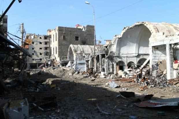 Destruição na cidade de Deir Ezzor, Síria, no dia 6 de janeiro de 2014. Foto: Ahmad Aboud/AFP/Arquivos
