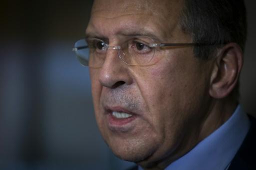 Ministro das Relações Exteriores russo, Sergei Lavrov, é visto em 23 de outubro de 2015 © POOL/AFP/Arquivos CARLO ALLEGRI
