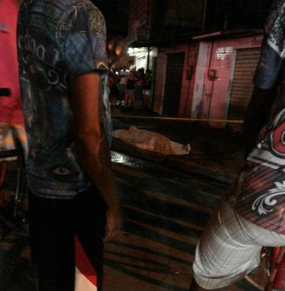 Segundo relatos de testemunhas, cinco tiros foram disparados. Foto: Whatsapp/Cortesia
