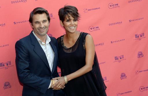 O casal Olivier Martinez e Halle Berry em junho de 2013. Foto: AFP