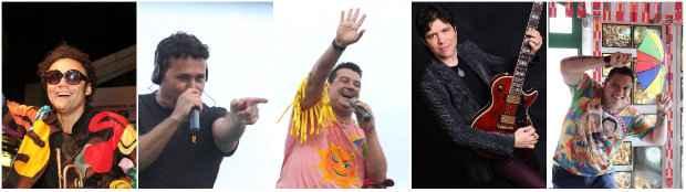 Maestro Forró, Almir Rouche, André Rio, Luciano Magno e Nonô Germano. Fotos: Arquivo DP/DA Press