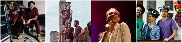 Emicida, Cosmo Grão, Ney Matogrosso e a banda Tono integram o line up do festival. Fotos: Divulgação