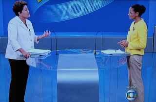 Ex-ministra lembra que, na eleição, Dilma disse que ela não ia ter condições de governabilidade (TV Globo/Reproducao)