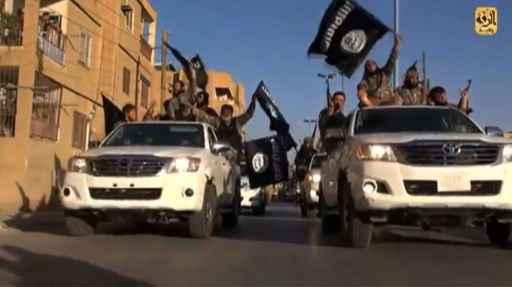 Jihadistas do Estado Islâmico na cidade síria de Raqa, em imagem de arquivo - Foto: Welayat Raqa/AFP (Welayat Raqa/AFP)
