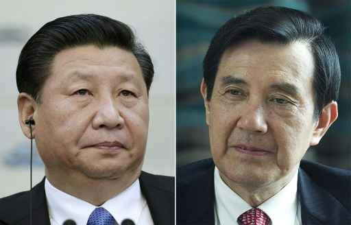 Xi Jinping (e) e Ma Ying-jeou Foto: AFP Erika Santelices, Jason Lee