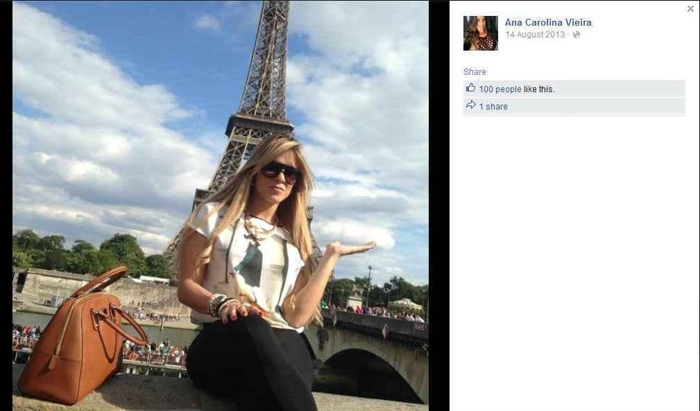 Bailarina foi morta pelo ex por ciúmes. (Foto: Reprodução/Facebook)