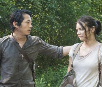 Glenn e Maggie: incertezas sobre o futuro. AMC/divulgação