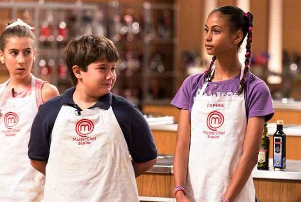 Matheus foi às lágrimas, mas admitiu que seu prato tinha vários erros. Daphne era apontada como uma das mais fortes concorrentes. Foto: Band/divulgação