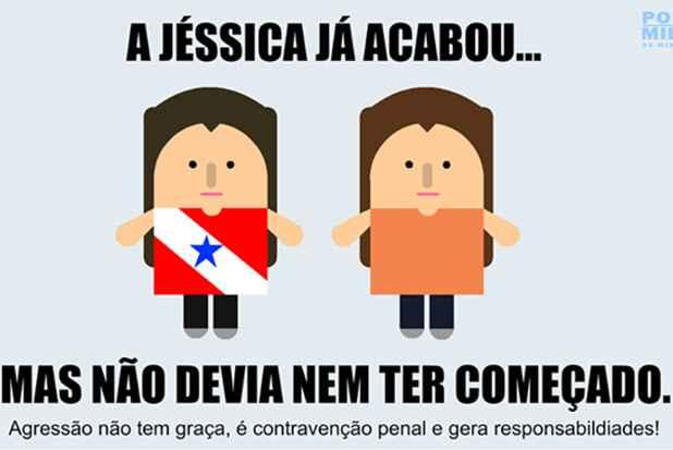 PM de Minas Gerais fez alerta sobre agressão. Foto: Facebook/Reprodução