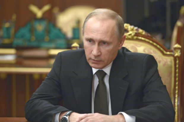 O presidente russo, Vladimir Putin, não tem dúvidas sobre o motivo da queda do avião russo no Sinal. Foto: SPUTNIK/AFP ALEXEI NIKOLSKY