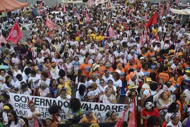 a primeira vez que a marcha nacional acontece. O objetivo é reunir o máximo de organizações de mulheres negras. Foto: André Violatti/Esp. CB/D.A. Press