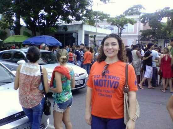 Heloísa Catunda, aluna do Colégio Motivo, quer estudar administração. Foto: Max Felipe/DP/D.A.Press