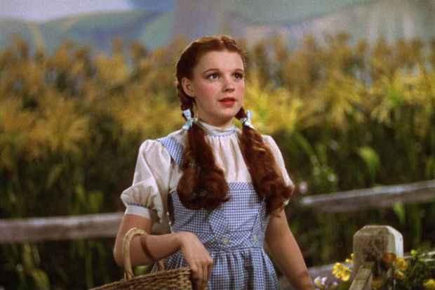 Judy Garland em cena de O Mágico de Oz, de 1939. Foto: Divulgação