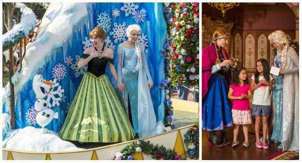 Enquanto a novidade não chega, a criançada pode tirar fotos com Anna e Elsa no palácio das princesas e no desfile do Magic Kingdom