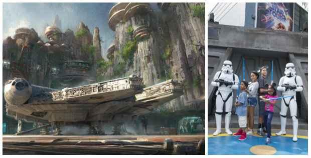 Star Wars vai ganhar uma área própria no Hollywood Studios, com naves em tamanho real. Até lá, patrulheiros circulam pelo parque e crianças têm aulas sobre como se tornar um jedi